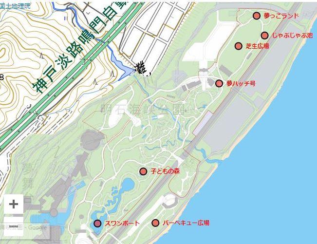 明石海峡公園マップ